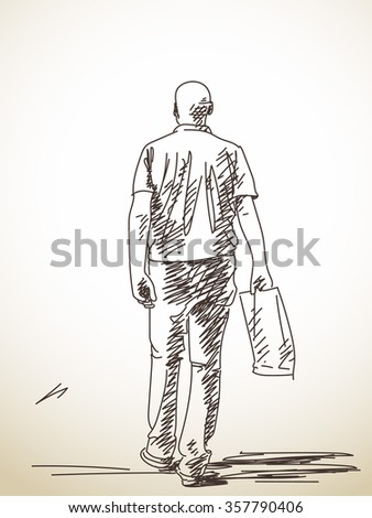 how to draw someone running from behind