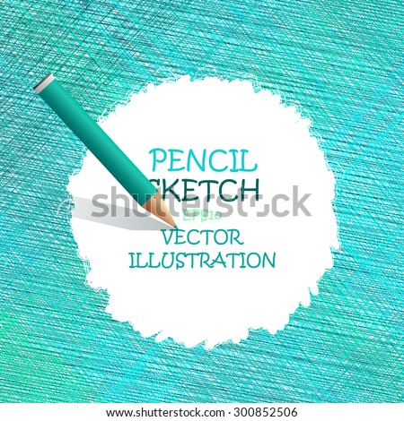 Sketch pencil drawing. Vector doodles. The Illustration is used for in web design, banners, in computer design. - stock vector