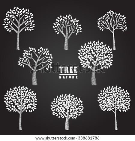 sketch tree vector illustration - stock vector
