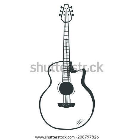 Sketched acoustic guitar illustration