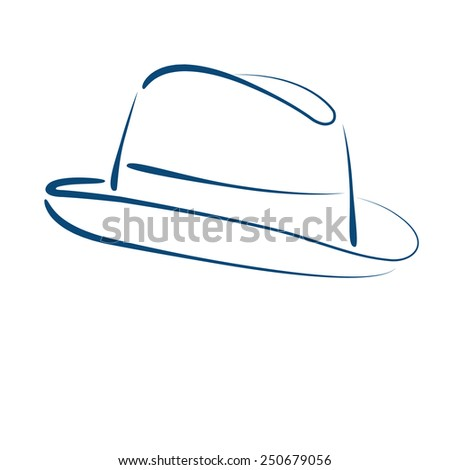 Fedora Trilby Hat Isolated