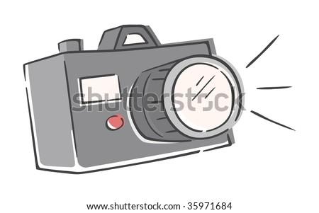 Sketchy Camera - stock vector