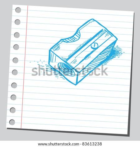 Sketchy illustration of a sharpener - stock vector