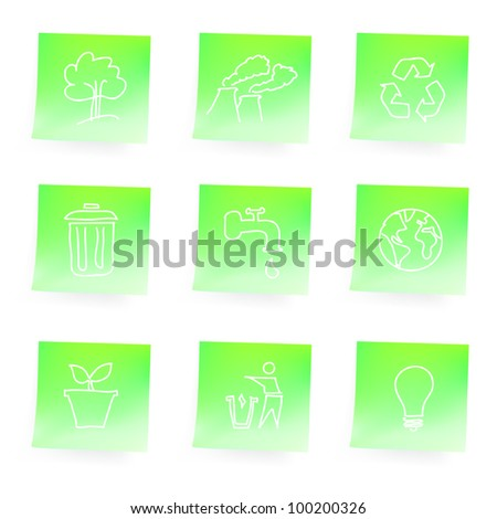 Sketchy recycle icons - stock vector