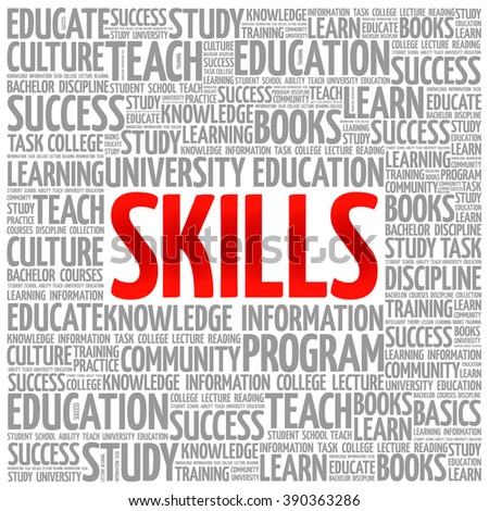 SKILLS word cloud, education concept background