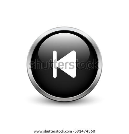 Skip Start Black Button Metal Frame Stock Vector 591474368 ...