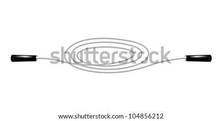 Skipping rope - stock vector