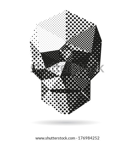 Skull abstract isolated on a white backgrounds - stock vector