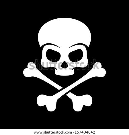 Skull and bones - stock vector