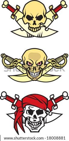 Skull and Crossbones - VECTOR - stock vector