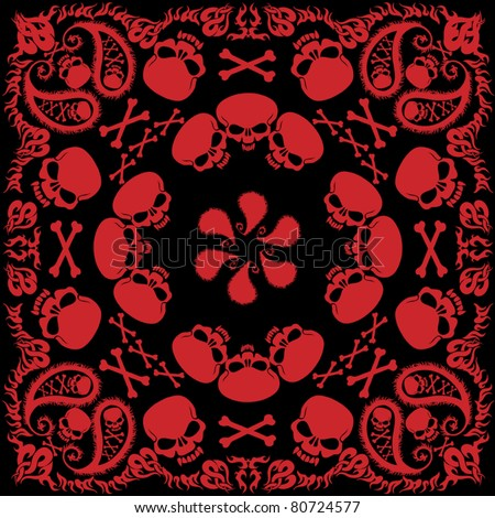 Red Bandana Pattern Stock Images, Royalty-Free Images & Vectors ...