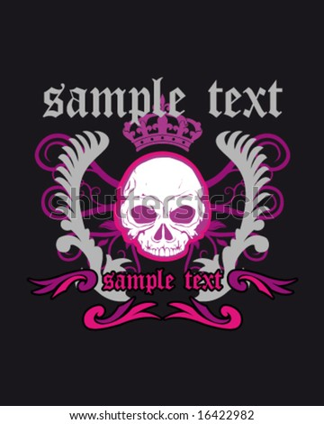 skull and gothic design for shirt