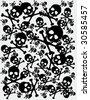 skull background - stock vector