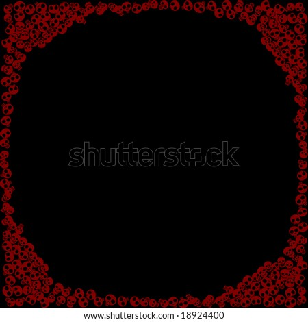 skull background, all in the circle - stock vector