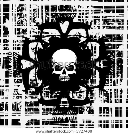 Skull background (vector)