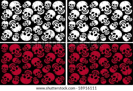 Skull bunch - stock vector