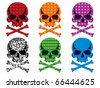 Skull collection vector - stock vector