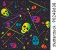 skull color pattern - stock vector