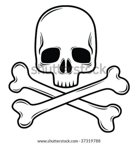Skull design element illustration - stock vector