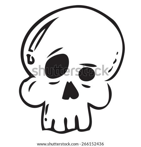 Skull Doodle - stock vector