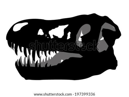 skull fossil  Dinosaur  - stock vector