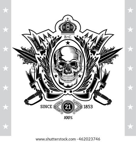 live free die tribal grunge biker stock vector 221871298 shutterstock. Black Bedroom Furniture Sets. Home Design Ideas