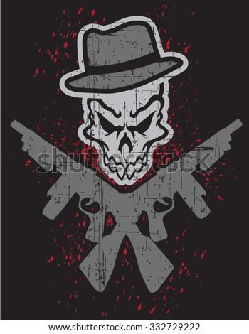 skull guy - stock vector