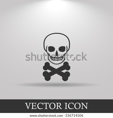 Skull icon isolated. Flat design style eps 10 - stock vector