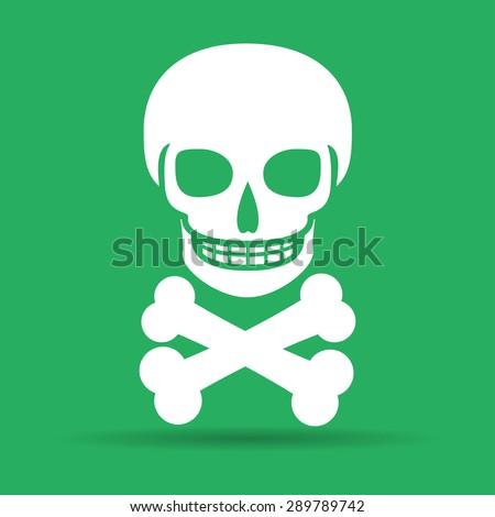 Skull icon isolated. Flat vector illustrator Eps 10 - stock vector