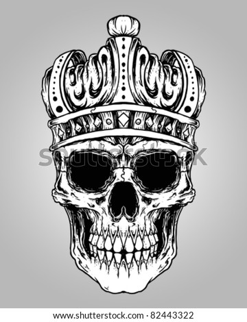 Skull wearing crown tattoo meaning 13