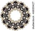 skull  pattern - stock vector