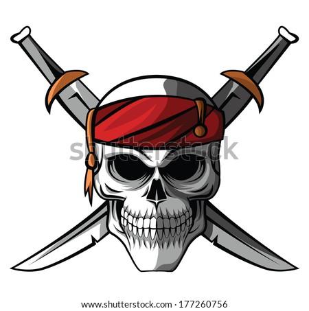 Pirates Logo Skull Pirate Skull Stock Ima...