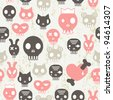 skull seamless pattern - stock vector
