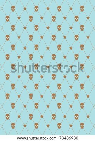 skull vector wallpaper - stock vector