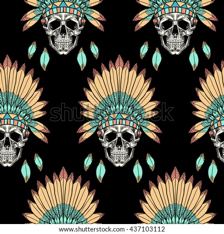 Indian Skull Stock Images, Royalty-Free Images & Vectors ...