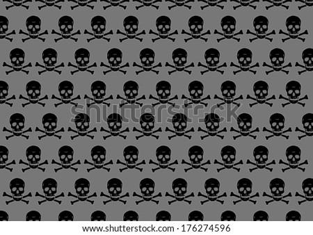 skulls - stock vector