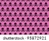 skulls background - stock photo