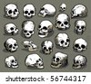 Skulls vector set - stock vector