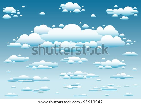 sky and clouds background - stock vector
