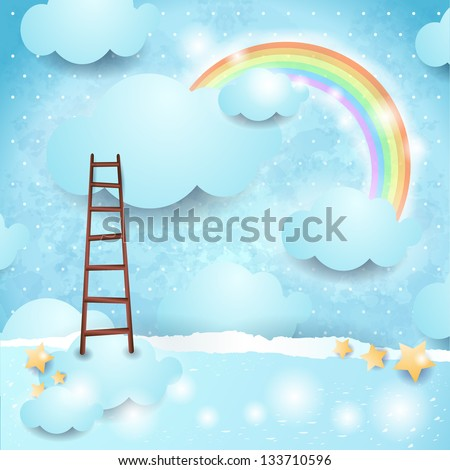 Sky background with copy space, vector - stock vector