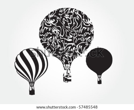 Sky balloons - stock vector