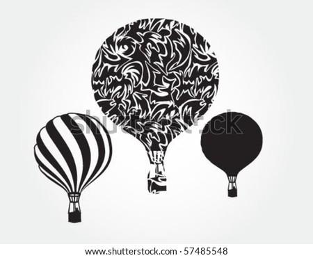 Sky balloons - stock vector