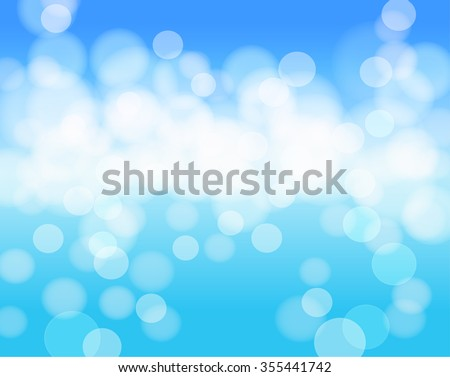 sky blue abstract background with lights effects. vector - stock vector