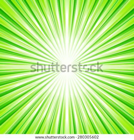Sky green sunburst background. Vector illustration. - stock vector
