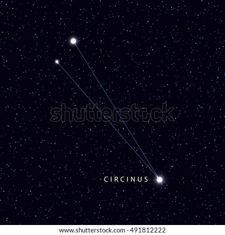 Sky Map Name Stars Constellations Astronomical Stock Vector - Us night sky map