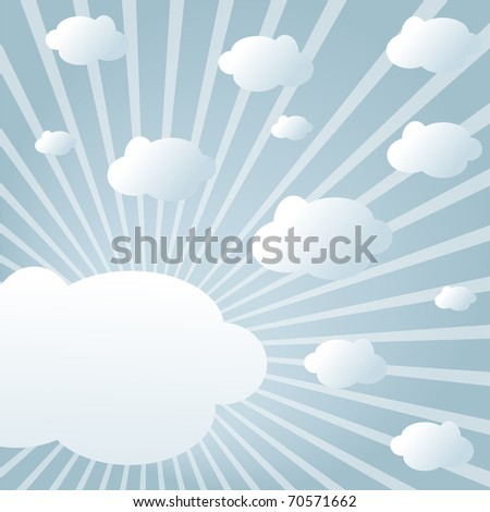 Sky with clouds in sunlight in modern style (eps10)