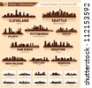 Skyline city set. 10 cities of USA #2 - stock vector