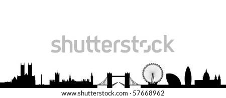 Skyline of London - stock vector