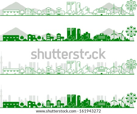 skylines - stock vector