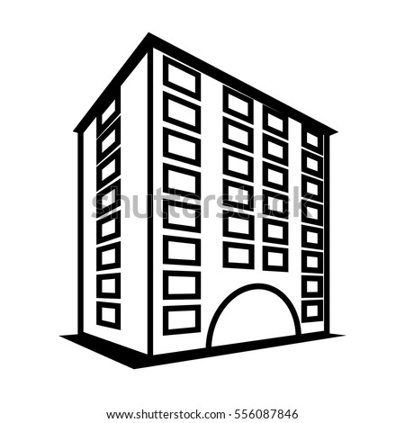 30 unique black and white apartment building clip art